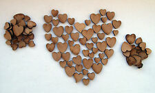 MDF Wood Hearts Pack, Wedding Table Confetti, decoration, embellishments