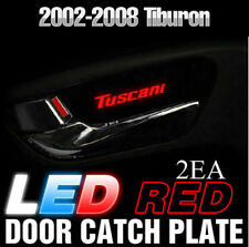 Red LED Inner Door Catch Handle Plate Panel 2EA For HYUNDAI 2002-2008 Tiburon