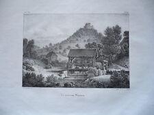 LE NOUVEAU WISTEIN   ALSACE GRAVURE ORIGINALE 1870 HAUT RHIN
