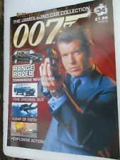 MAGAZINE ONLY JAMES BOND CAR COLLECTION  34 Range Rover 4.6