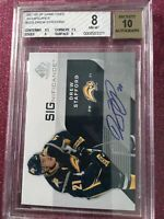 BGS 8 Auto 10 2007- 2008 DREW STAFFORD SP Game Used Significance Card# S - DS