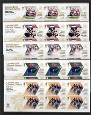 GB MNH 2012 SG3342a - 3370a BRITISH GOLD MEDAL WINNERS SET OF 29 SHEETLETS