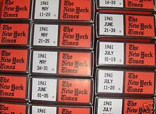 New York Times on Microfilm  (1912-2004)