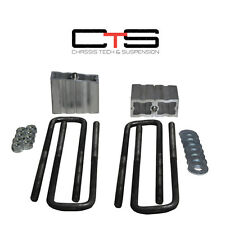 "GMC Chevy 01-10 Silverado Sierra HD 2500 3500 2"" Rear Blocks lift 6061 Ubolt ""C"""