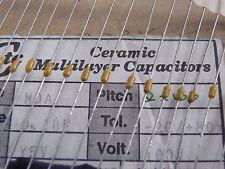 100x Ultra Min De-Coupling Capacitors 0.1uF= 104= 100nF 100v Axial Ceramic 511