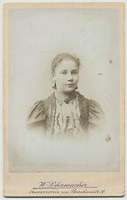 CDV Foto Frankenstein -Junges Mädchen  hübsch angezogen um 1900 (K903)