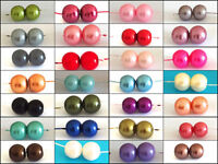 200 Assorted Sizes 4mm 6mm 8mm 10mm Glass Pearl Beads Choose Colour