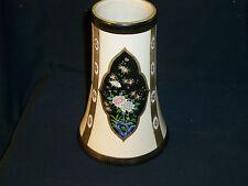 RARE Nippon Noritake Stoneware Enameled Floral Vase