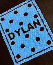Crochet Patterns - POLKA DOTS PERSONALIZED BABY Pattern