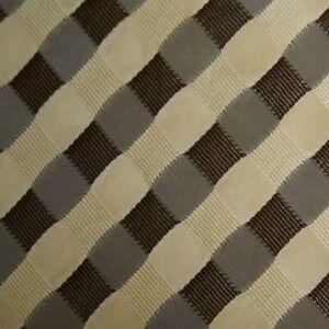 Brown Cream Plaid Silk FERRE Tie
