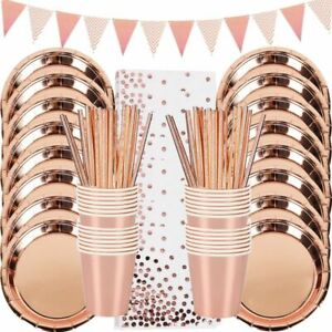 Party Table Decoration Disposable Tableware Set Paper Cups Plates Straws Party