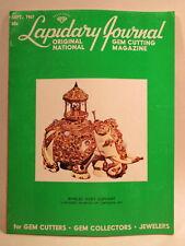 Lapidary Journal Magazine 1967 September Jeweled Elephant from Lizzadro