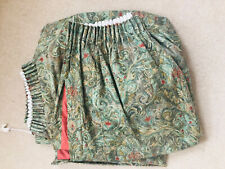 """Vintage Green Floral Paisley Curtains Pencil Pleat ''Curtina Printed In England"""""""