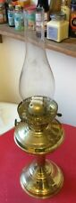 Vintage Brass Oil Lamp. Duplex Type Burner. With Chimney.
