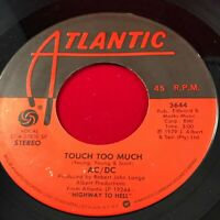 "AC/DC Touch Too Much 1979 USA 7"" vinyl single EXCELLENT CONDITION 45 original"