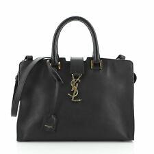 Saint Laurent Monogram Cabas Leather Small