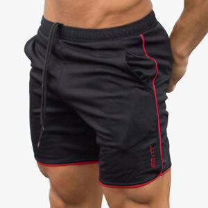 Men's Sports Training Bodybuilding Summer GYM Shorts Workout Fitness Short Pants
