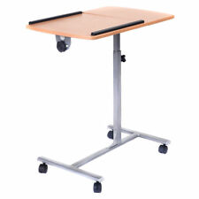 Portable Adjustable Laptop Over Bed Desk Table Stand Tilting Top Food Cart Tray