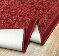 Kapaqua Egyptian Design Runner Rug Stain-resistance, Non Slip, Red Top Quality