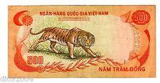 VIETNAM SUD SOUTH VIET NAM Billet 500 DONG ND 1972 P33 TIGRE BENGALE BON ETAT