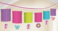 Sweet 1st / First Birthday Girl Paper Lantern Garland Decoration 12ft Long  New