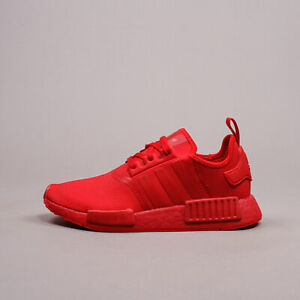 nmd adidas shoes mens black red