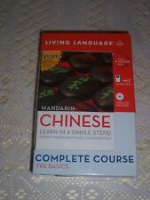 living language mandarin Chinese complete course 4 cds 2 books New 99p no res