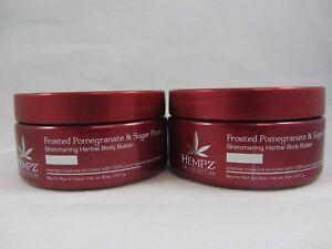 2 PACK - HEMPZ FROSTED POMEGRANATE & SUGAR PLUM BODY BUTTER INTENSE MOISTURE