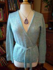 Delia's Aqua & Lavender Heather Mohair Blend Ballet Wrap Sweater Size M