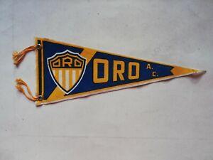 Vintage Mexican ORO GUADALAJARA SOCCER FUTBOL liga mx pennant Flag from 60's