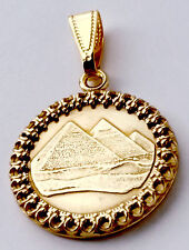 Egyptian Pyramids Gold Color Ancient Egypt Coin Jewelry,Necklace,Egyptian Charms