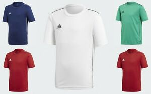 New Adidas T Shirt Core 18 Jersey Juniors  Boys Kids age 7-15 Unisex