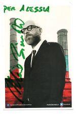 Cartolina Mario Biondi con autografo 10x15