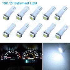 Premium 10pcs Car T5 17 37 73 Instrument Dashboard White LED Bulbs Light Lamp VL