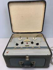 Vintage COMMANDER High Fidelity Reel to Reel Tape Recorder Dual Speed 2-Speakers