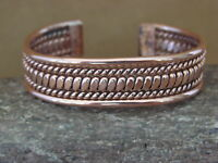 Navajo Native American Jewelry Handmade Copper Bracelet Elaine Tahe!