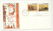 Canada 1972 First Day Cover Canadian Indians #862-63 Jackson/Sweeney Cachet X