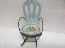 "Limoges "" Rocking Chair Trinket Box """