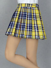 1/6 Phicen, Hot Toys, Kumik, Cy Girl, ZC & NT - Female Yellow Tartan Plaid Skirt