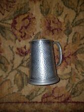 English Civic Pewter Glass Bottom Beer Stein Mug Tankard Initialed T.P. 12-9-65