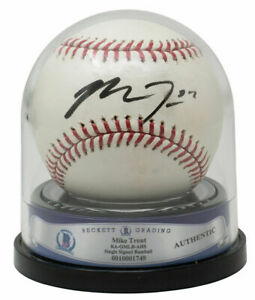 Mike Trout Signed Rookie Era Los Angeles Angels MLB Baseball BAS