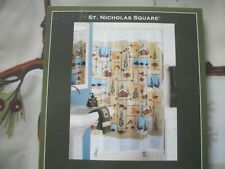 ST. NICHOLAS SQUARE VINYL SHOWER CURTAIN 70 X 72 WINTER COUNTRY CABIN NEW