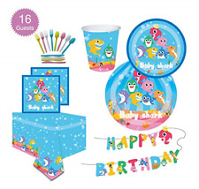 114 Pieces Baby Shark Party Supplies Set Disposable Tableware Party Decorations