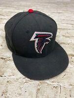 New Era 59/Fifty Atlanta Falcons NFL Hat Cap Black Fitted Size 7 5/8 Dirty Bird