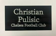 Christian Pulisic - 130x70mm Engraved Plaque for Signed Chelsea FC memorabilia