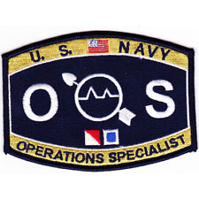 "Us Navy Operations Specialist Os Rating Patch 4 1/2"" x 3 1/4"" Licensed"