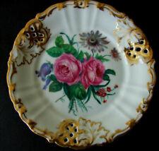 TPM Prunkplatte Rosen handgemalt,Marke 1848,Tielsch Altwasser, 24cm