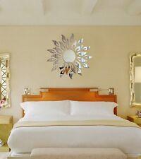 3D Mirror Wall Decal Decor Art Sticker Home Sunshine Fire Round Flower Acrylic