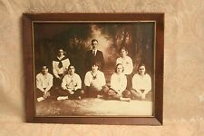 VINTAGE 1921 WOOSTER, OH? WHS GIRLS BASKETBALL TEAM GELATIN PHOTO & FRAME