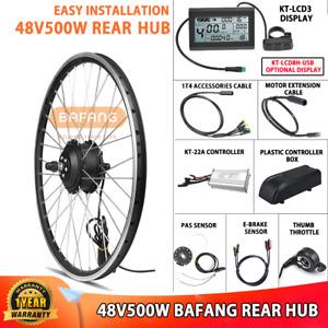 "36V/48V Bafang E-Bike Conversion Kit 250W/500W Rear Hub Motor 26""/27.5""/700C"